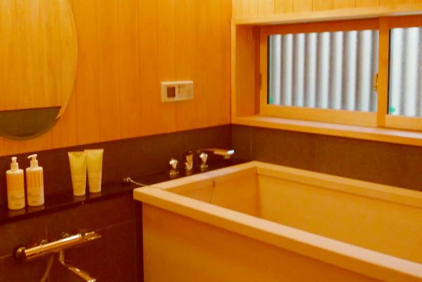 若狭展示場のひのき風呂